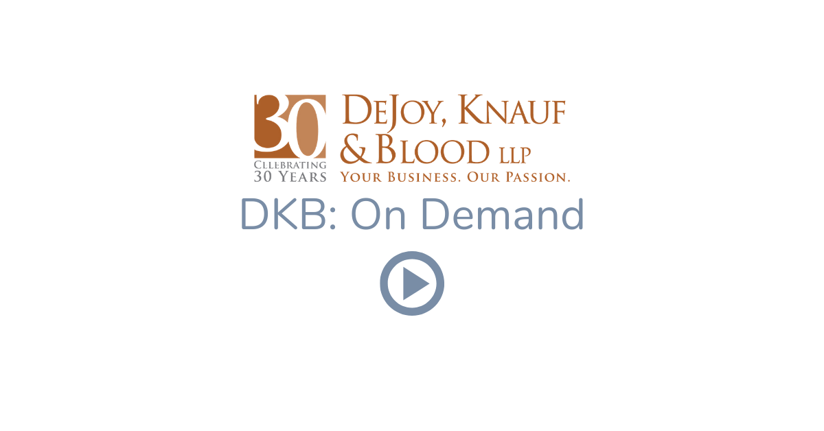 DKB on Demand: PPP Loan Forgiveness and Certification